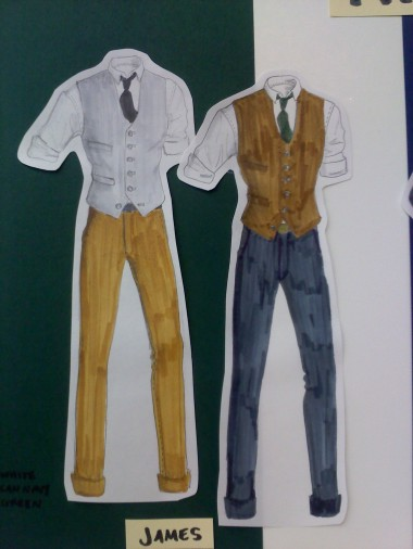 Example of menswear fashion illustration
