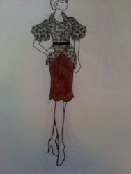 Textiles Inspired Sketch