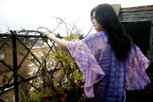 Purple/Pink Festival Blouse (Chiffon). Model: Amy Rose Esdale