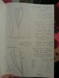 Casual tuxedo jacket