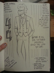 Casual tuxedo jacket (stylized sketch) for prospective client