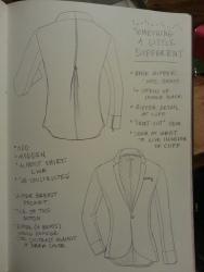 Zipper-back jacket